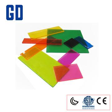 square fraction tile transparent set
