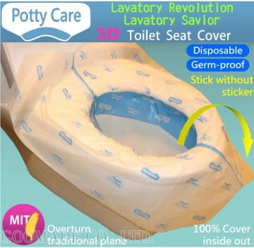 Taiwan Potty Care 3d Germ Proof Disposable Toilet Seat Cover