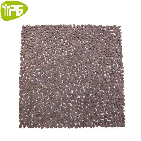 Coffee Brown Nature Stone Pebble Mosaic
