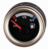 Stainless Steel Fuel Level Gauge Indicator (UP-04-BS)