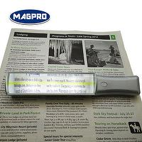 lighted handheld bar magnifier for reading