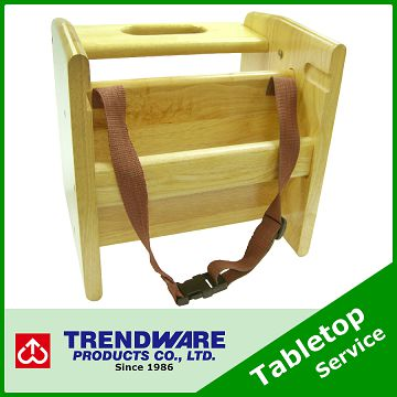 Taiwan Restaurant Wooden Booster Seat For Baby Child Chair With