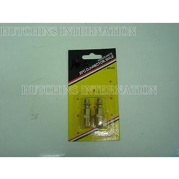 2PCS CONNECTOR, MALE (BRASS)