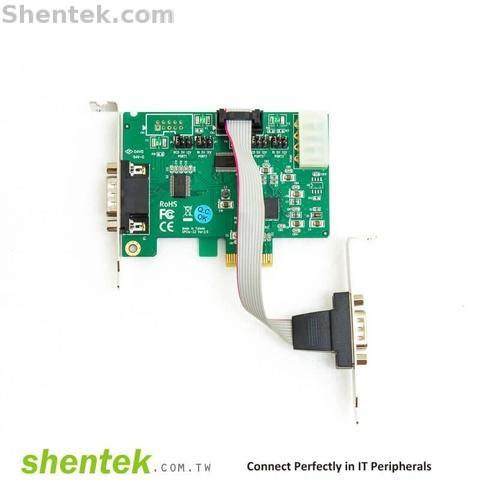 Shentek Serial RS232 2 Port PCIe Card