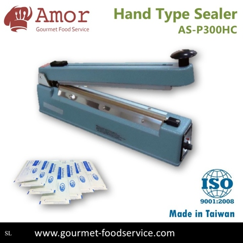 Taiwan Made Hand Type Impulse Sealer Sealing Machine With Cutter