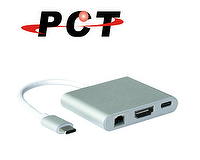 USB Type-C To HDMI / RJ45 / USB3.0 / USB-C (PD & Data) Adapter