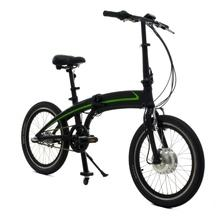 Folding electric bicycle with hidden battery in top tube
