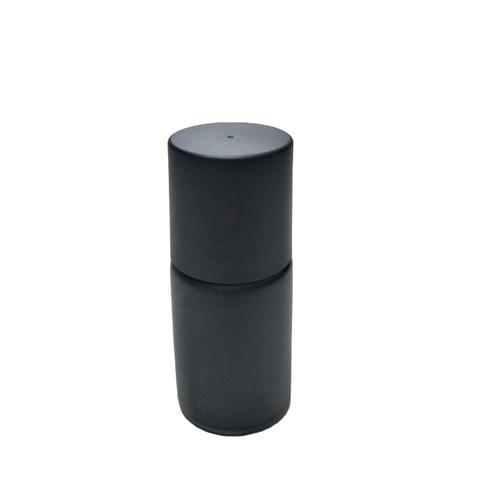 15ml Matte Black Glass Bottle