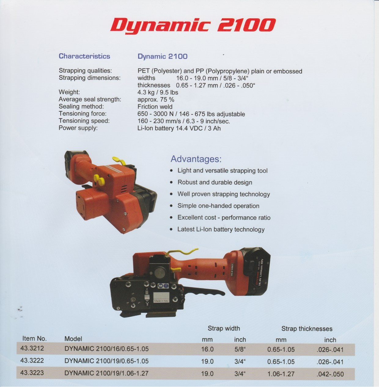 Taiwan Battery Powered Strapping Machine Fromm Dynamic