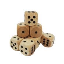 25mm black dot, ivory color round corner wooden dice
