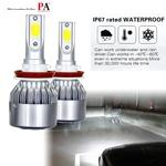 PA 1 set C6 COB LED Car Headlight Bulb 60W Power Adaptor Embedded Automotive Light H1/H3/H4/H7/H11/9005/9006/9012