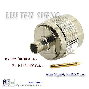 Taiwan N-Type connector Male Straight Solder for Semi Rigid and