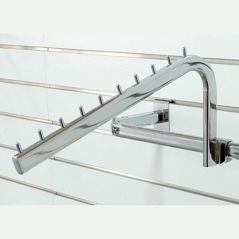 Taiwan Clothing display metal sloping arm for oval crossbar