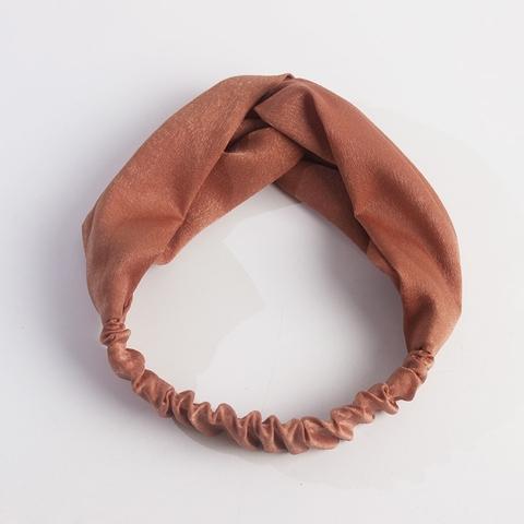 New Design Girl Hair Accessories Custom Printing Fabric Cross Hairband Headband For Women