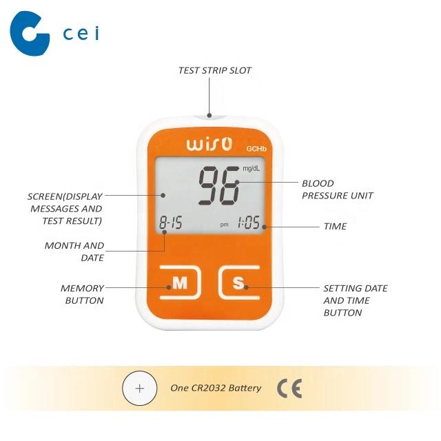 3 in 1 Glucometer PC Link Glucose Cholesterol Hemoglobin Test Machine