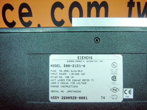 SIEMENS/TEXAS INSTRUMENTS POWER SUPPLY 500-2151A 500-2151-A