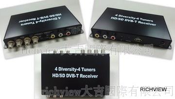 4-Diversity HD DVB-T digital TV Receiver for Car (EU)