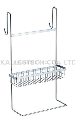 Bathroom stainless steel hanging basket