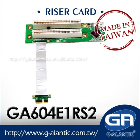 GA604E1RS2 - PCI-E X1 to x16 PCI 2-Slots Riser Card