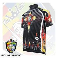 "FIGURE ARMOR-Blaze Energy ""Flames Red"" Cycling Jersey"