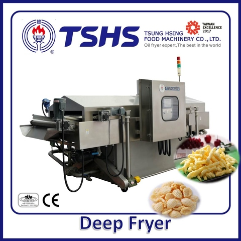 Industrial Continuous Stainless Steel Sweet Potato  Lpg Gas Fryer Machine