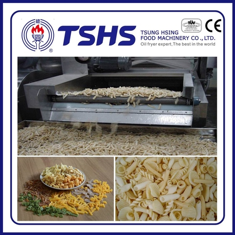 Made in Taiwan Commercial Pellet snacks Frying Line