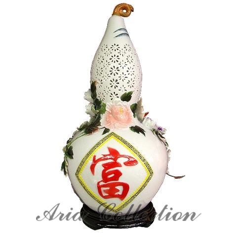 白玉陶瓷燈- 四喜葫蘆燈