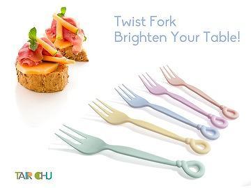 14cm Dessert Fork Has Twist Shape