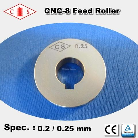 CNC-8 Feed Roller 0.2 / 0.25 mm - Back