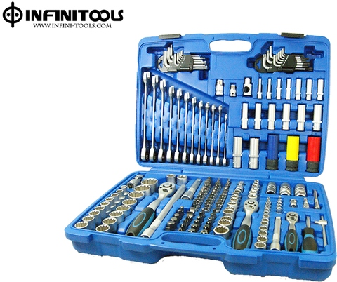 "Spline Socket and Wrench Set,176-piece,1/4"" ,3/8"" and 1/2"" Drive / Steckschlüsselsatz 6,3 (1/4) + 10 (3/8) + 12,5 (1/2), 176-tlg"