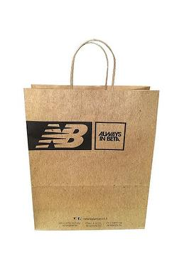 White and brown kraft paper bag, twisted paper handle, fully-automatic paper bag