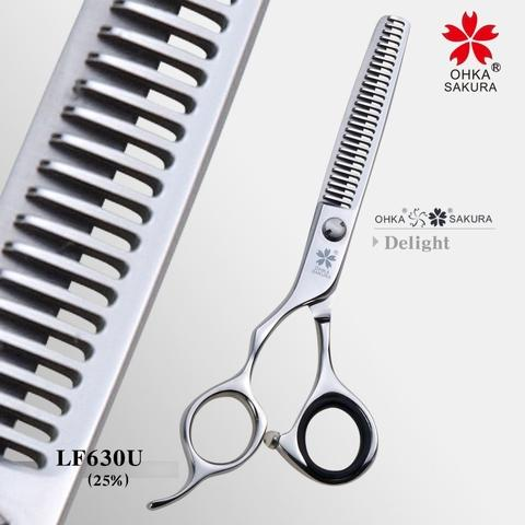 SAKURA Scissors: LF630U- Professional hair cutting shears for hairdressers and barbers
