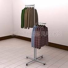 Adjustable 2 Arms Clothes Rack