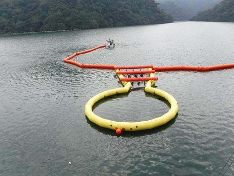 U-Type Inflatable Oil Containment Boom and Skimmer