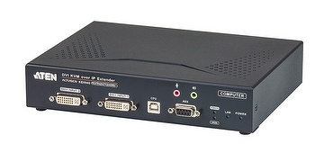 DVI-I Dual Display KVM Over IP Extender