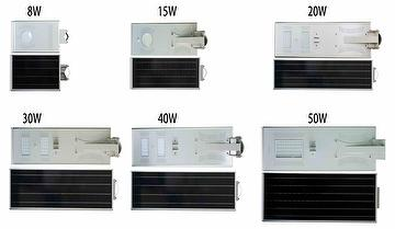 Integrated LED Solar Street Light/8W/15W/20W/30W/40/50W/60W