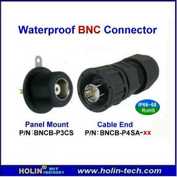 Taiwan Waterproof Rf Bnc Connector Used For Cctv Coaxial