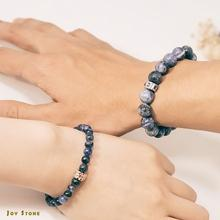 Sodalite Bracelets Lovers Set 6mm 10mm Beads Precious Stones Gift Box