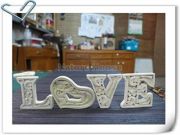 Taiwan Wooden Carved Alphabet Letter Home Decor 15cm Xact