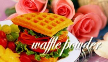 Waffle powder