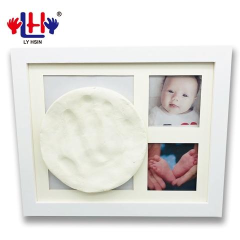 Taiwan Wholesale Wooden Baby Photo Keepsake Handprint Footprint Clay ...
