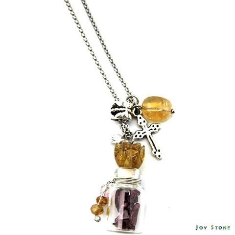 Diffuser Necklace Tulip Cross Aroma Vial