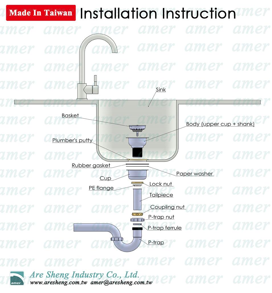 4 1 2 Center Bolt Kitchen Sink Strainer Taiwantrade Com