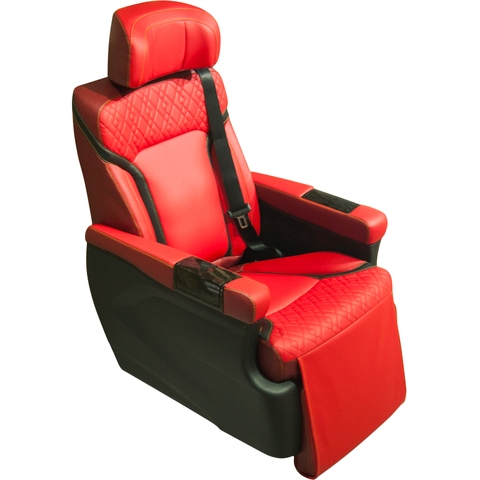 Luxury car seat with ottoman function, cozy car seat with memory set, Toyota Hiace modified car seat