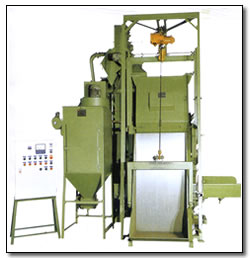 APRON TYPE SHOT BLASTING MACHINE