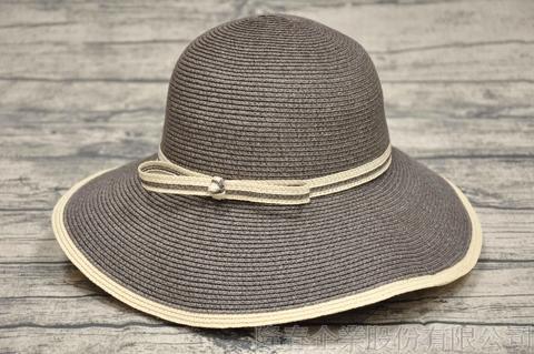 【紙在乎你Natural Club】現代簡約淑女帽 #J40 花崗灰 可水洗 防曬 紙線編織帽