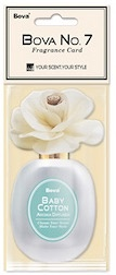 Bova No. 7 Fragrance Card-Baby Cotton