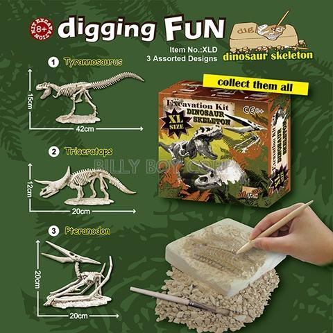 EXCAVATION KITS - XL Dinosaur Skeleton / Educational Toy / Dig It Out