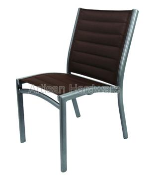 Stupendous Taiwan Patio Furniture Aluminum Waratah Stackable Armless Interior Design Ideas Tzicisoteloinfo