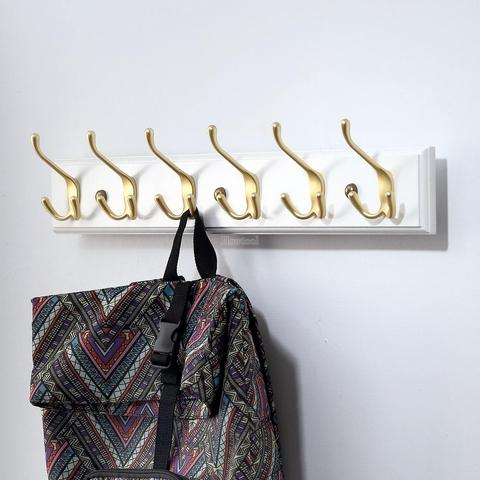 Modern Wall Mount Metal Tri Prongs Clothes Hook